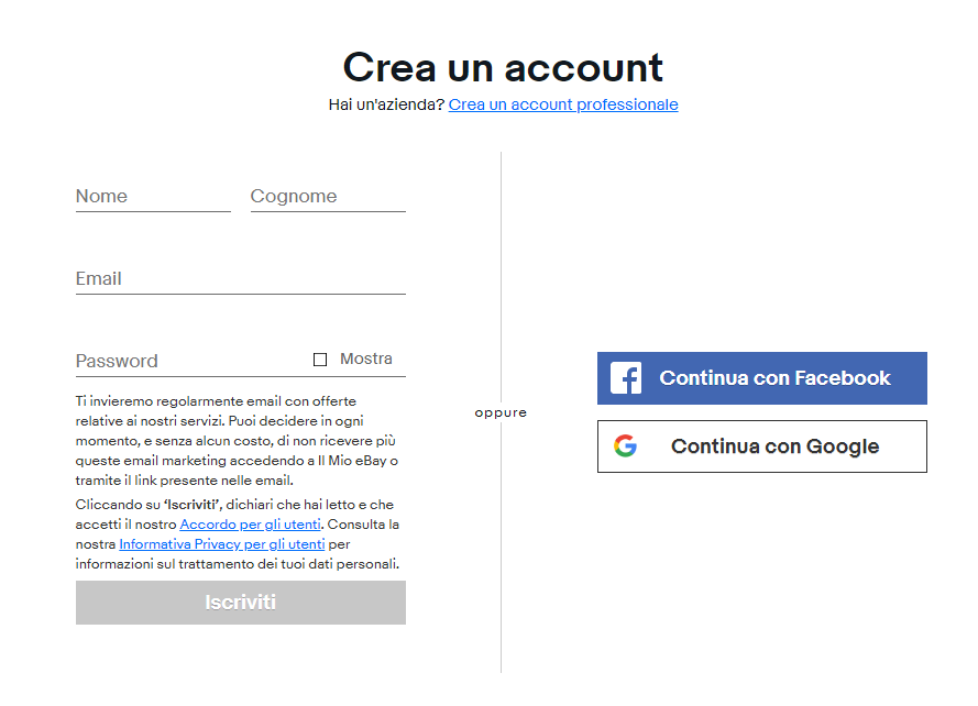 registrazione ebay partner network